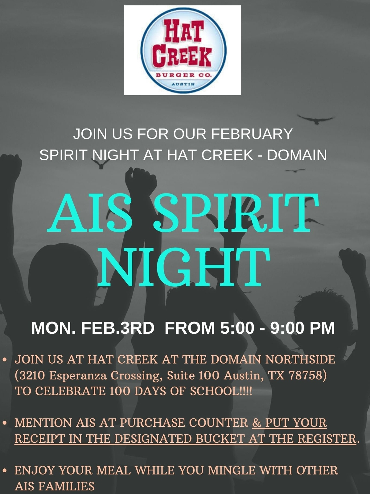Spirit Night at Hat Creek - Domain Northside