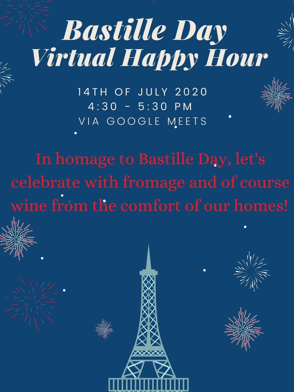 Community Bastille Day Virtual Happy Hour