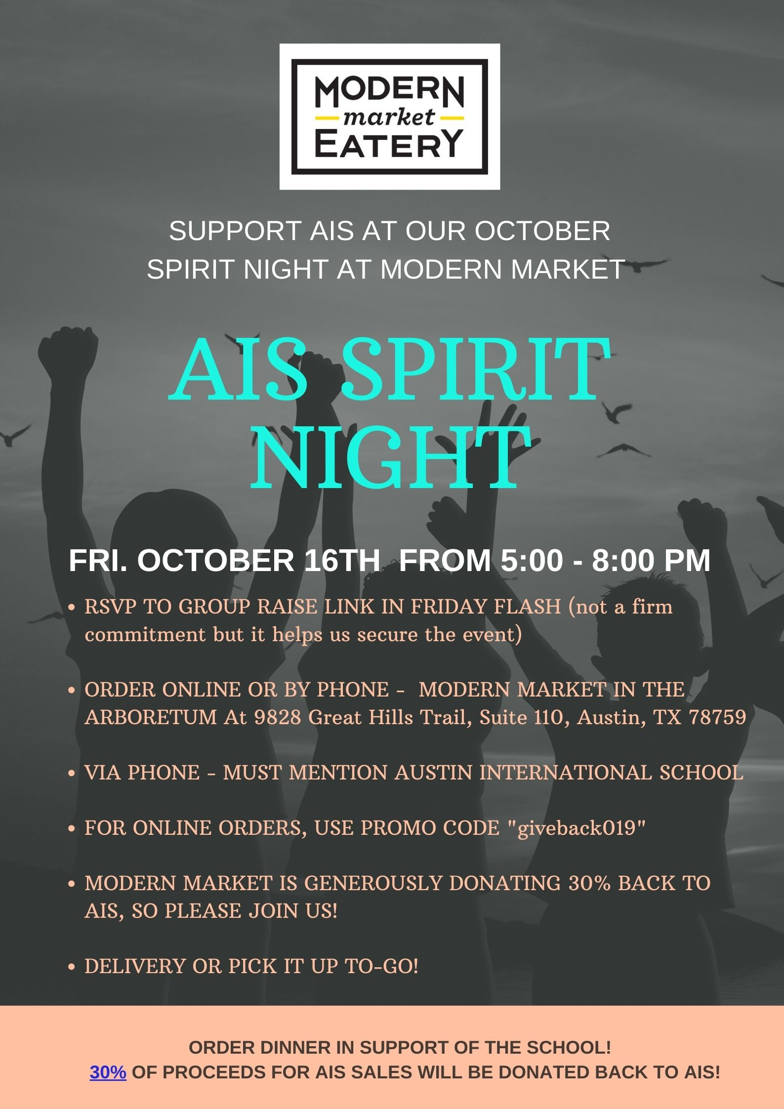 Spirit Night at Modern Market-Arboretum