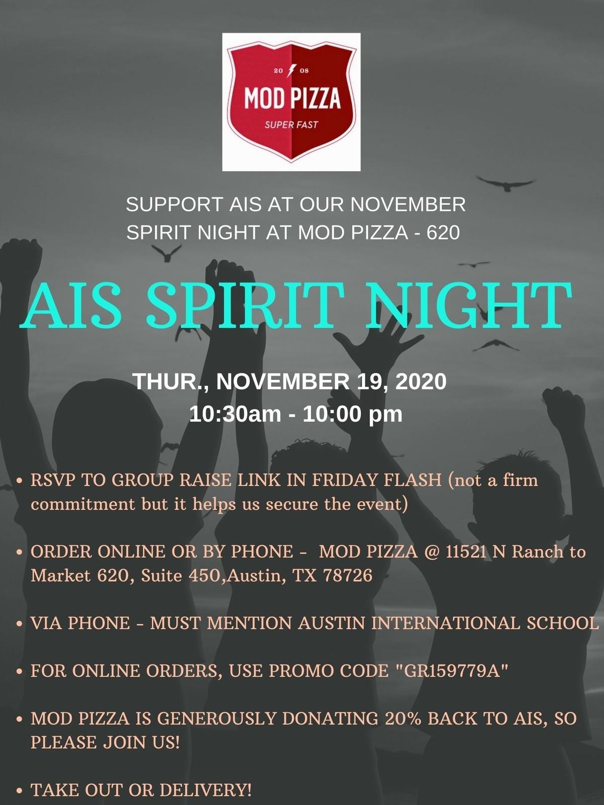 Spirit Night at MOD Pizza