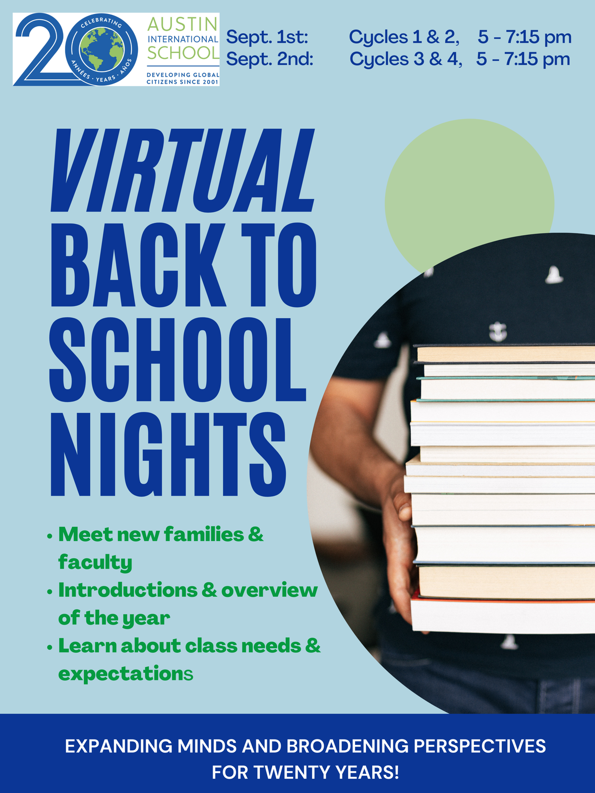 Back to School Night-Cycles 3 & 4