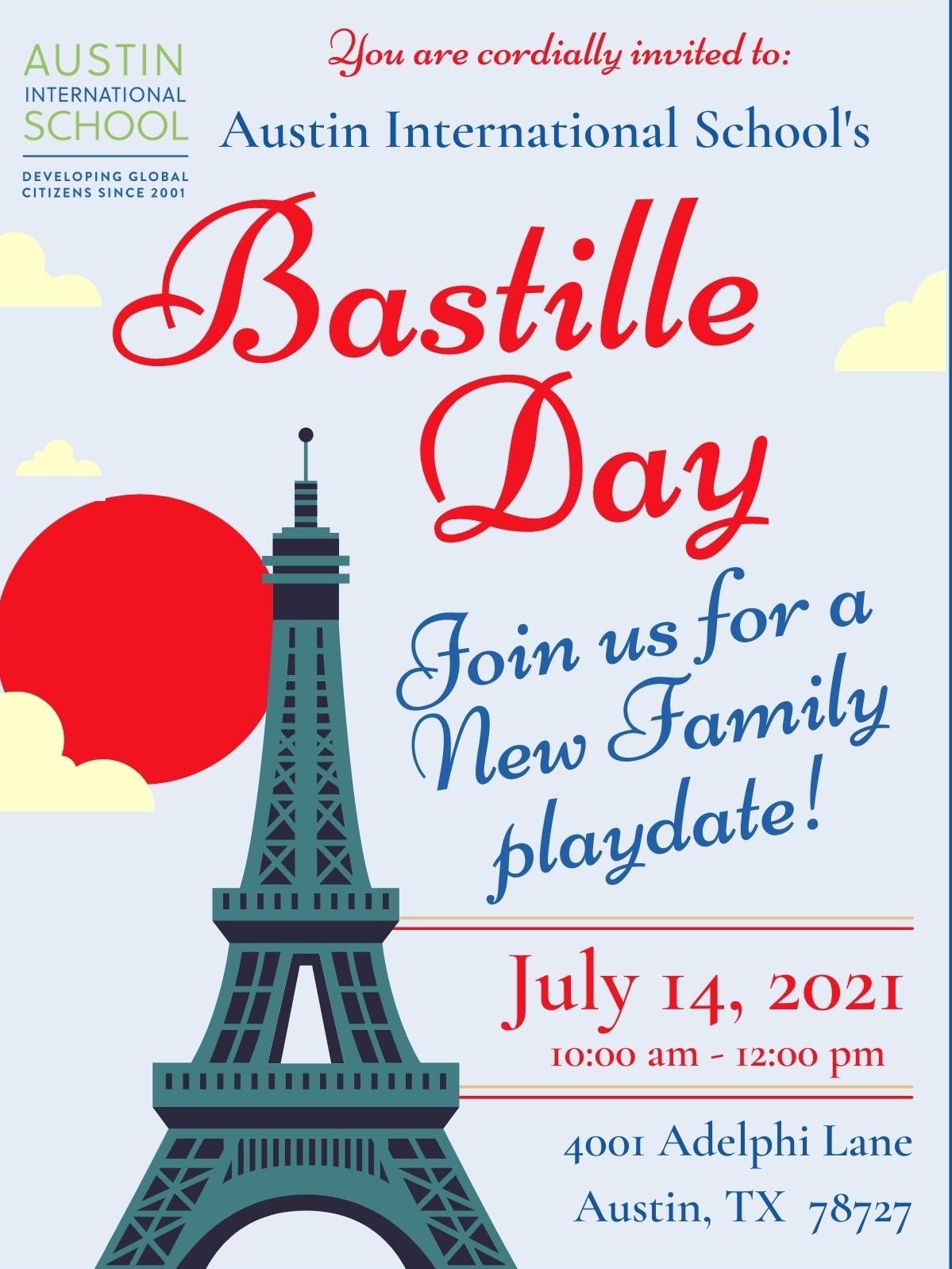 Bastille Day New Family Playdate